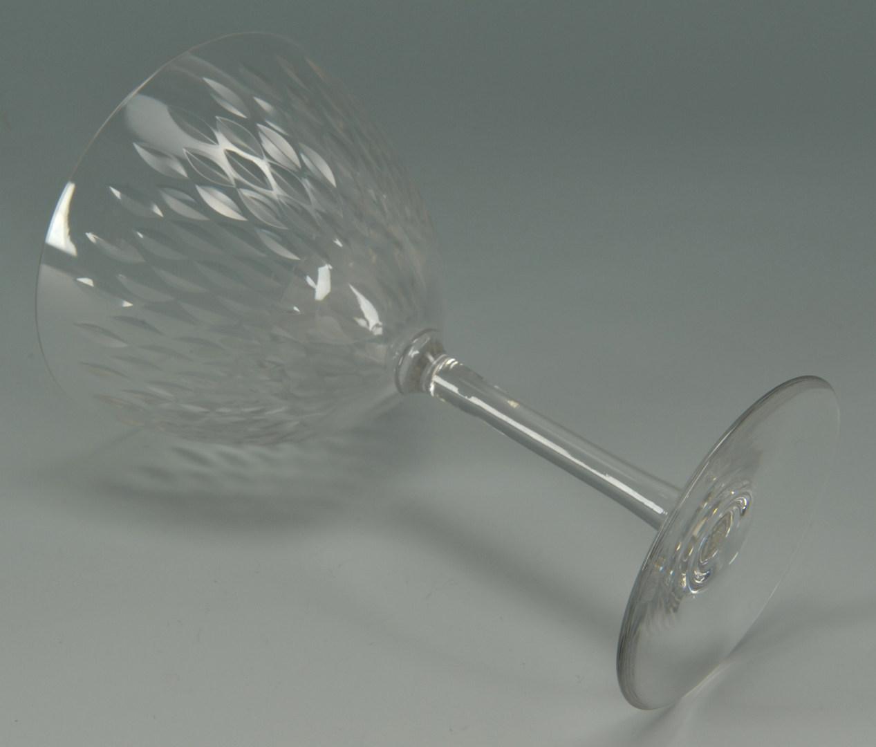 Lot 265: Baccarat Crystal water goblets, Paris pattern, 9 t