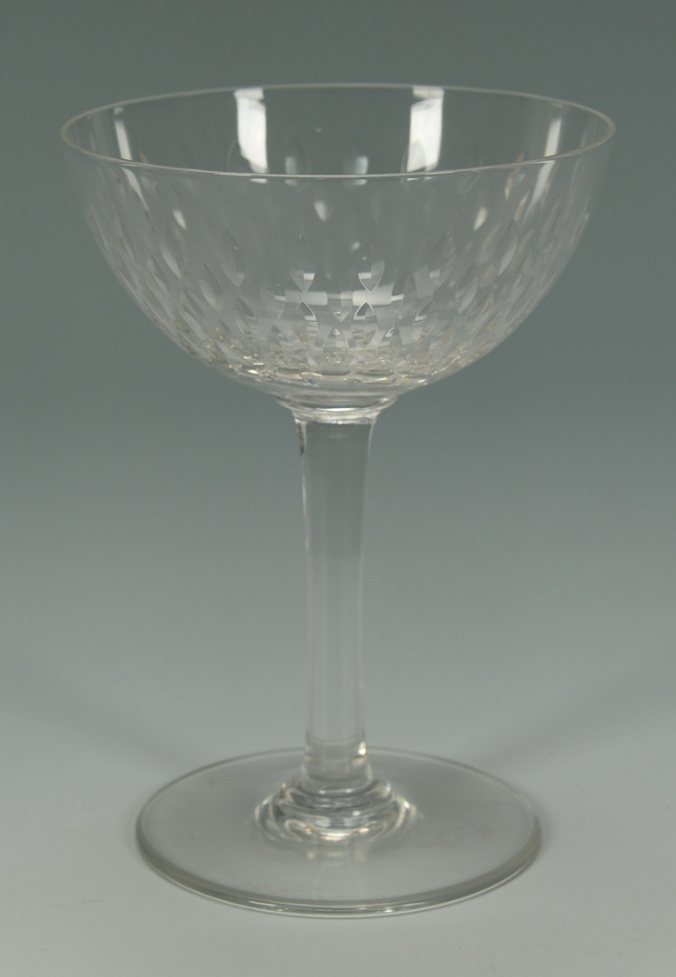 Lot 266: Baccarat Crystal Wine & Champagne Glasses, Paris p