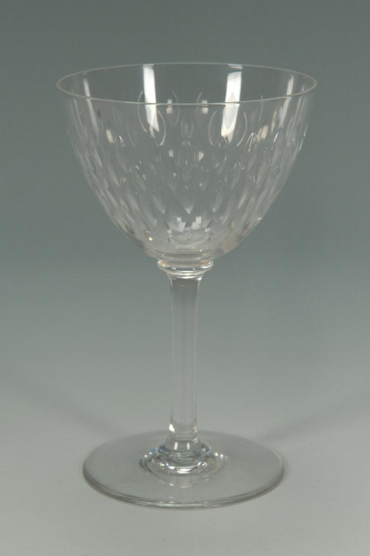 Lot 266: Baccarat Crystal Wine & Champagne Glasses, Paris p