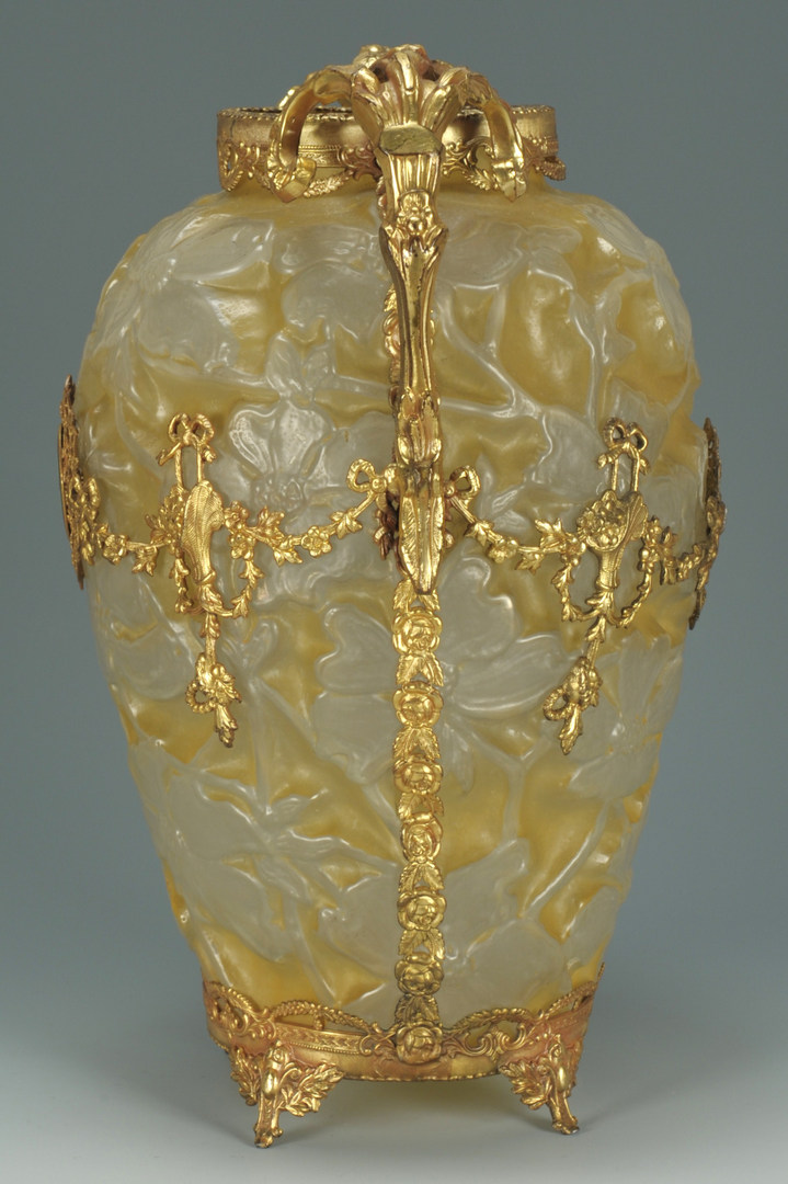 Lot 269: Phoenix Art Glass Cameo vase with gilt mounts