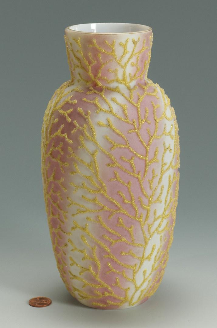 Lot 270: Coralene Satin Glass Vase