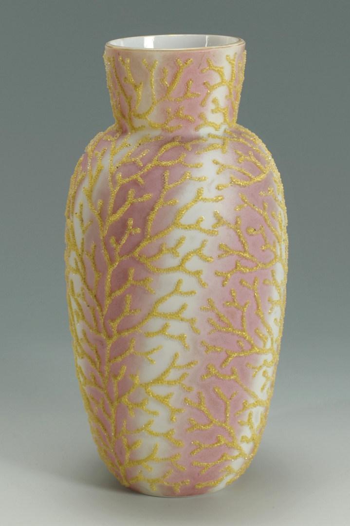 Lot 270 Coralene Satin Glass Vase