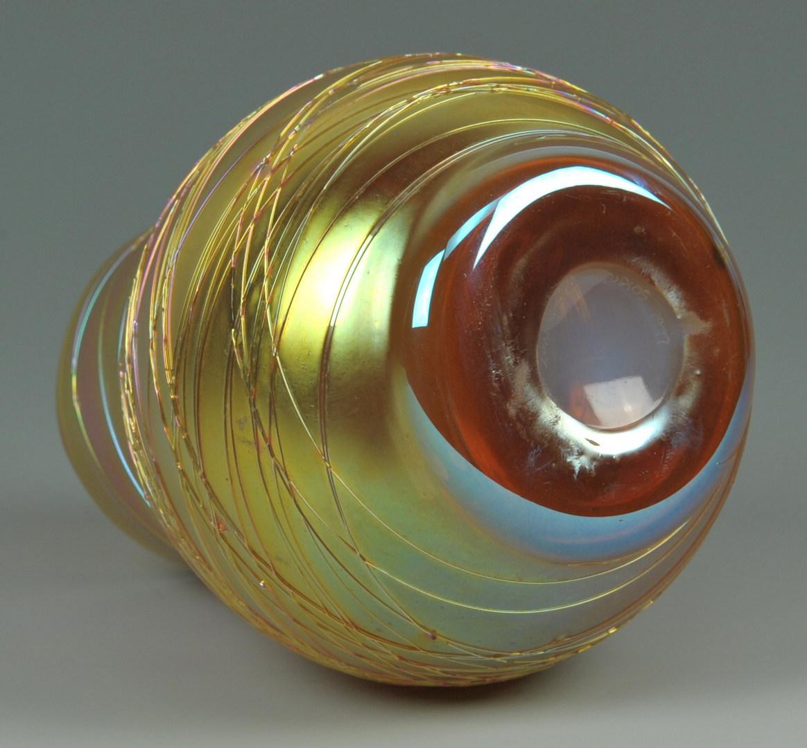 Lot 272: Four pcs contemporary art glass, incl. R. Jolley