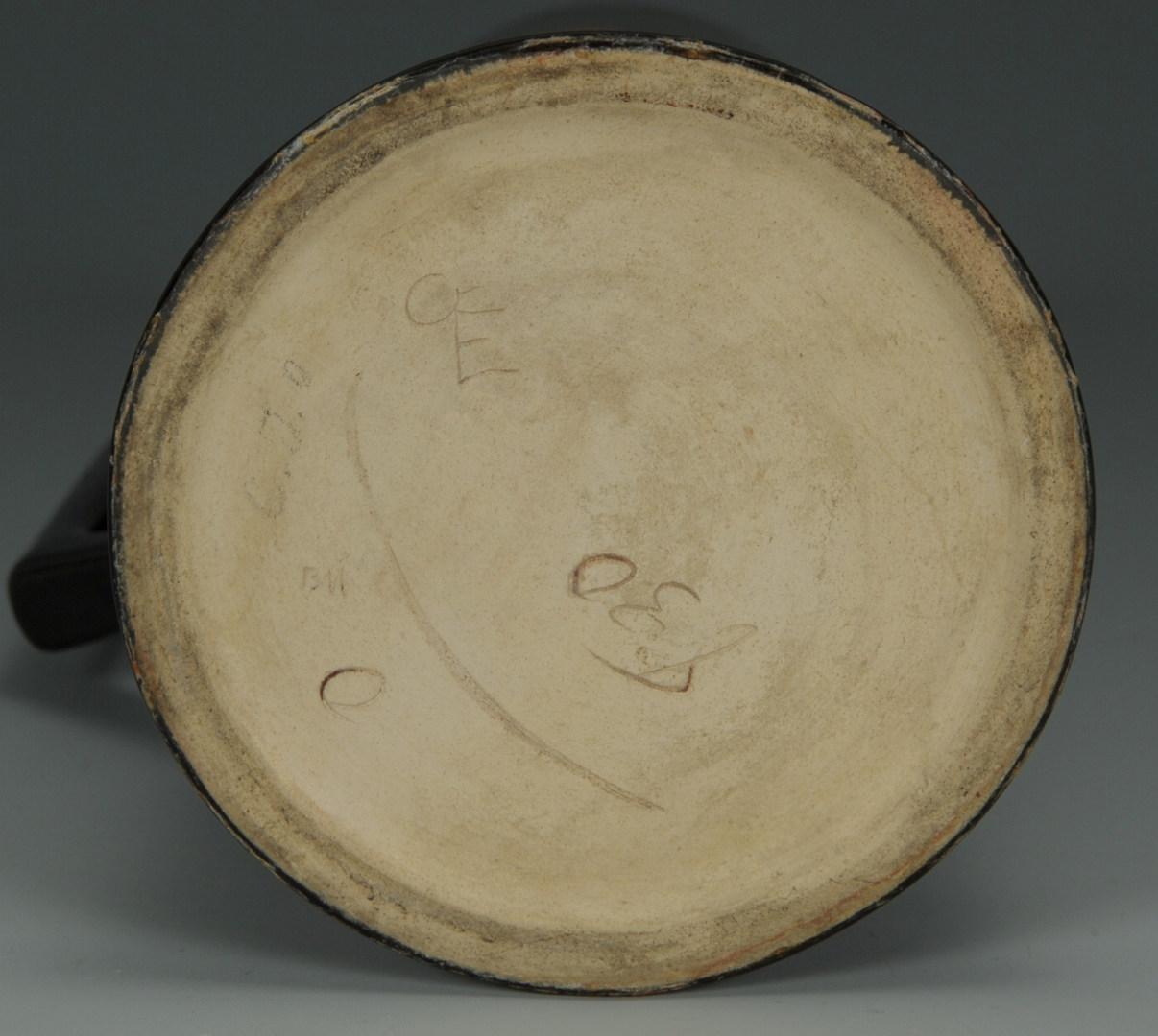 Lot 286: Native American Portrait Art Pottery Mug