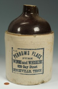 Lot 288: Knoxville TN Pottery Whiskey Jug