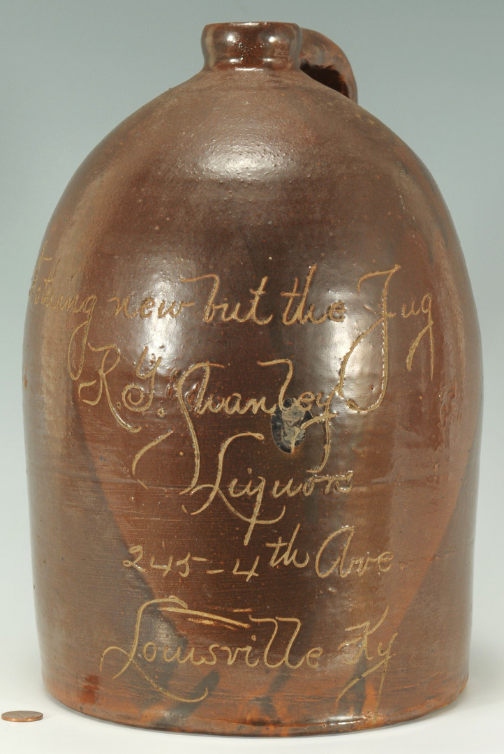 Lot 293: Louisville KY R.Y. Shanley Whiskey Jug
