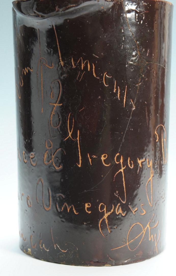 Lot 296: 3 Kentucky Vinegar Script Advertising Pitchers