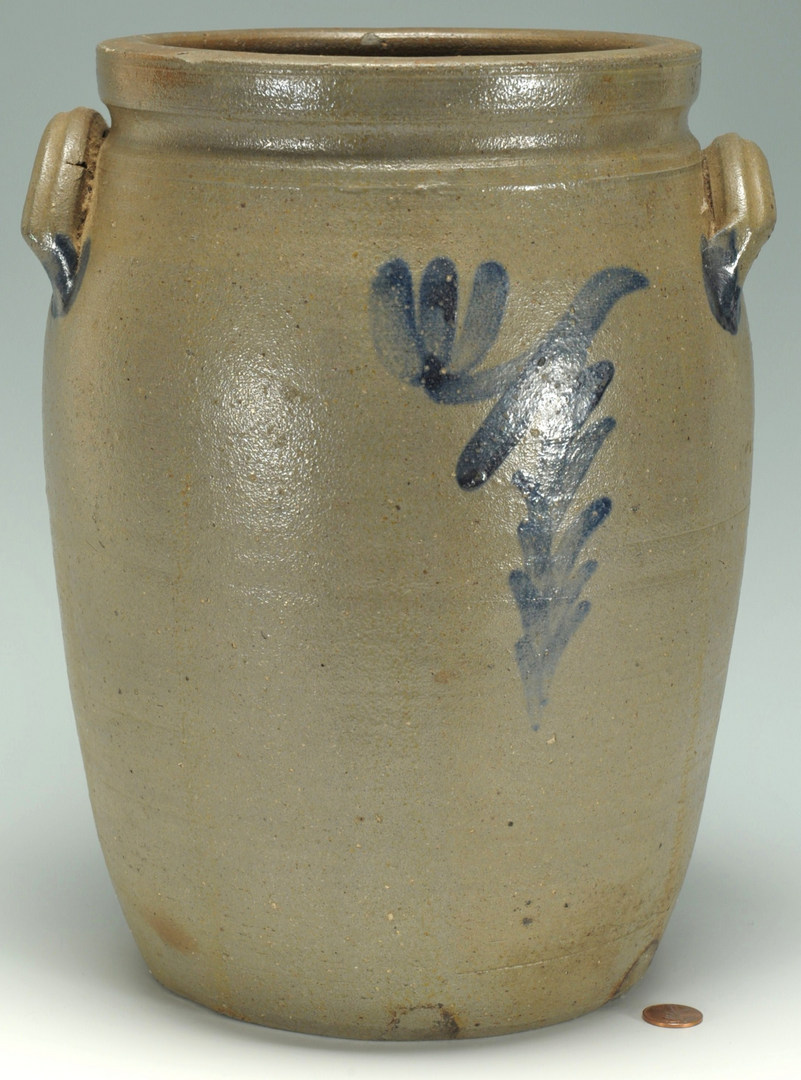 Lot 298: Stoneware Cobalt-decorated Jug attr. Decker