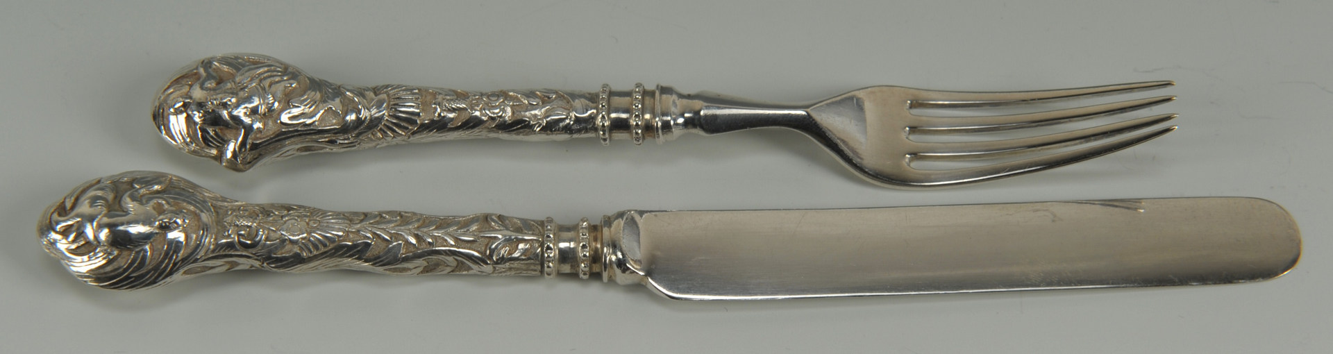Lot 2: Chinese Export Silver Forks and Knifes, 24 pcs.