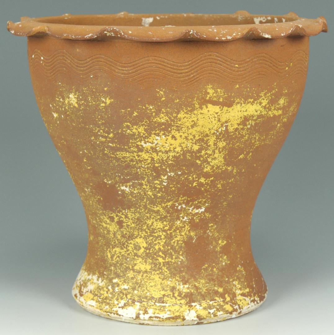 Lot 303: Southern Pottery Flower Pot, possibly AL