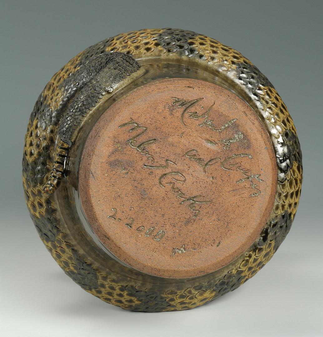 Lot 305: Michael & Melvin Crocker Rattlesnake Jug