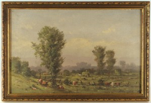 Lot 30: Thomas Campbell pastoral landscape