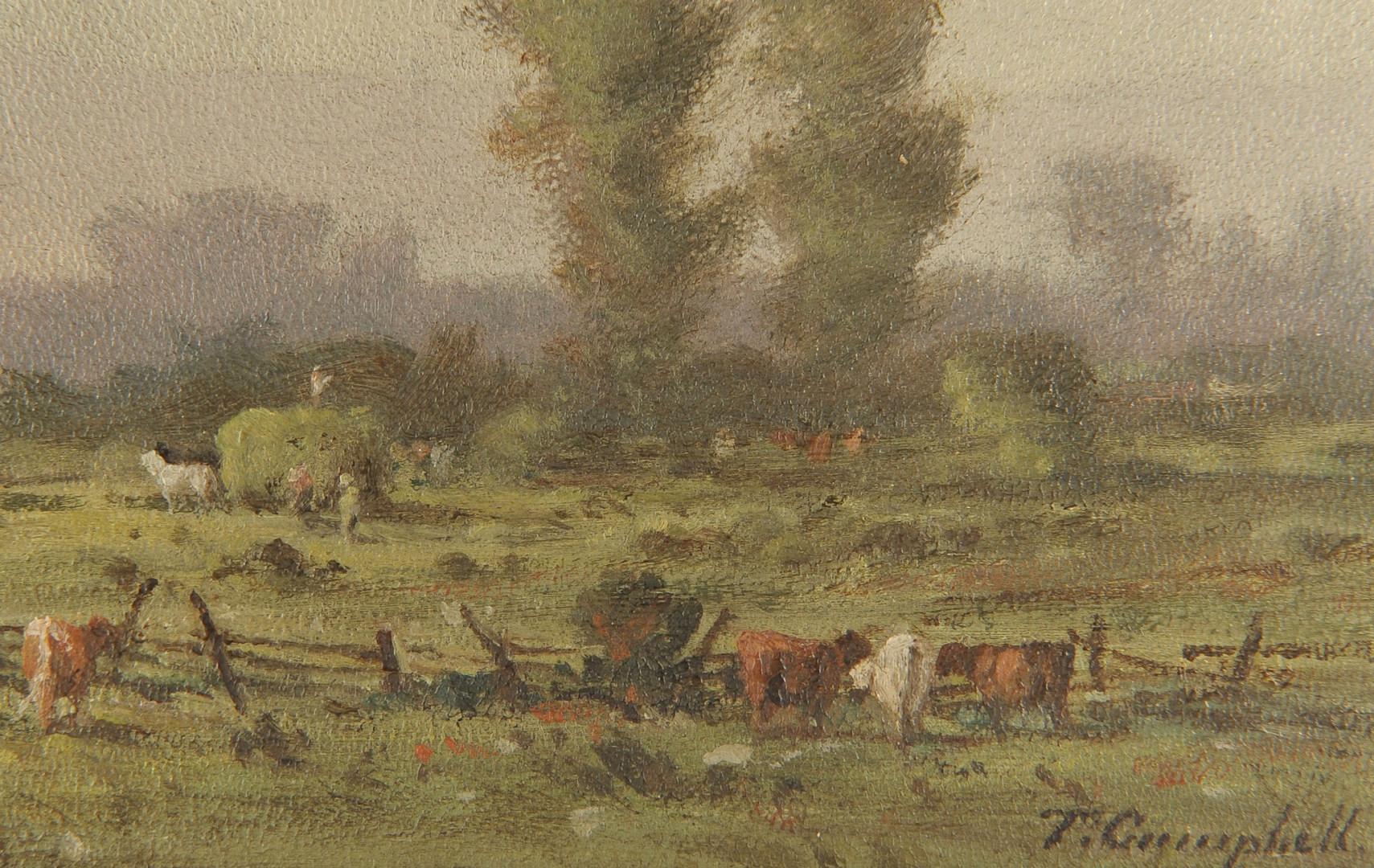Lot 30: Thomas Campbell pastoral landscape