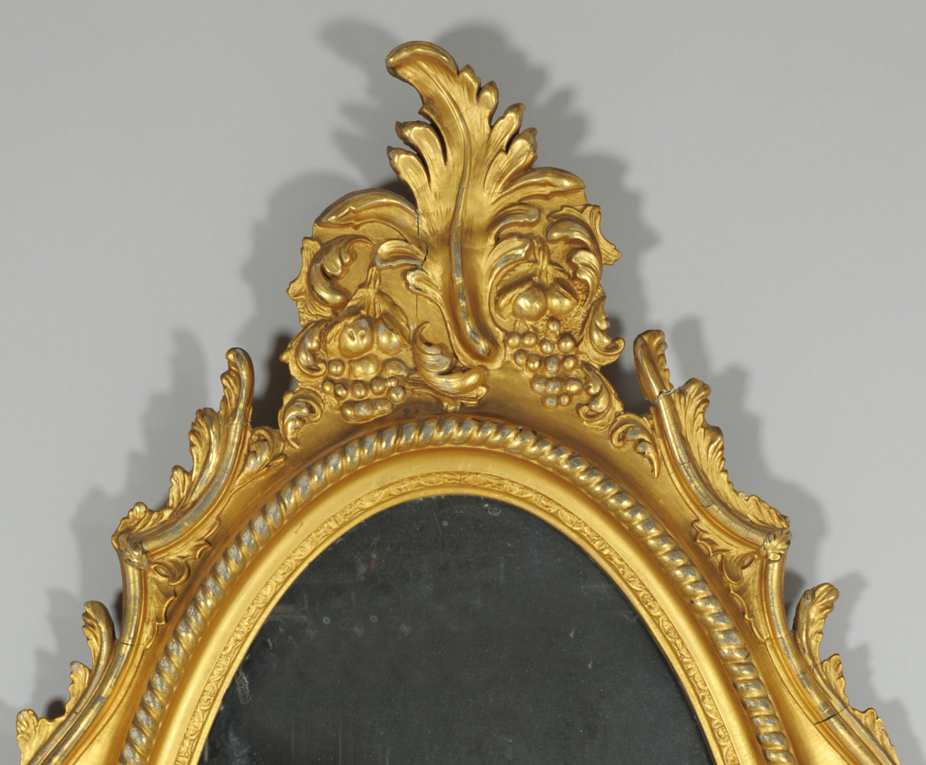 Lot 310: Large Late Classical Oval Gilt Mirror