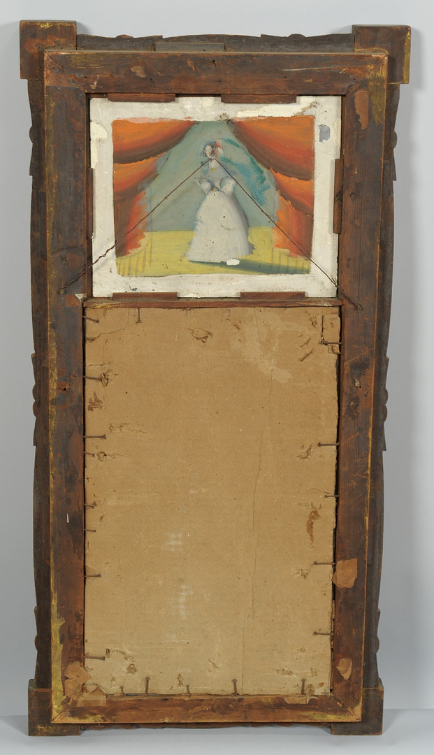 Lot 311: American Classical Mirror w/ Eglosime Panel
