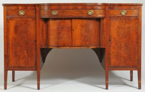 Lot 312: Federal mahogany sideboard, circa 1800
