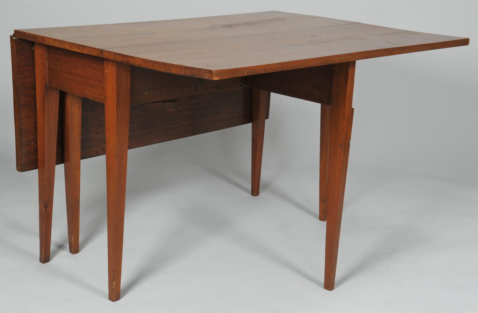 Lot 316: Federal style NC Walnut Drop Leaf Table
