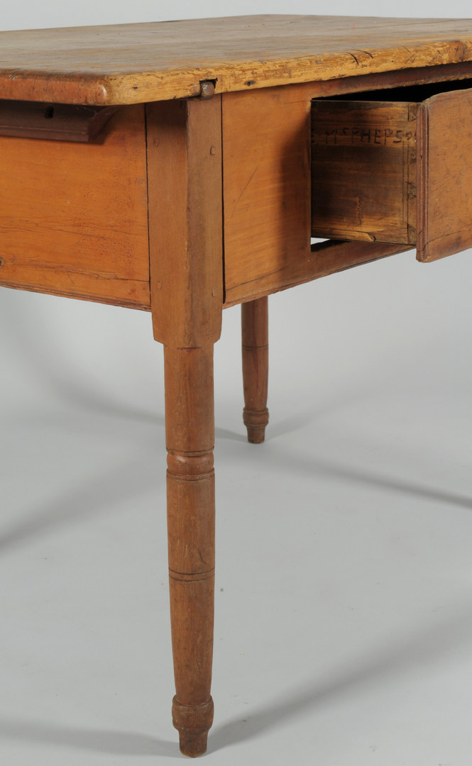 Lot 317: Sheraton work table, possibly Southern