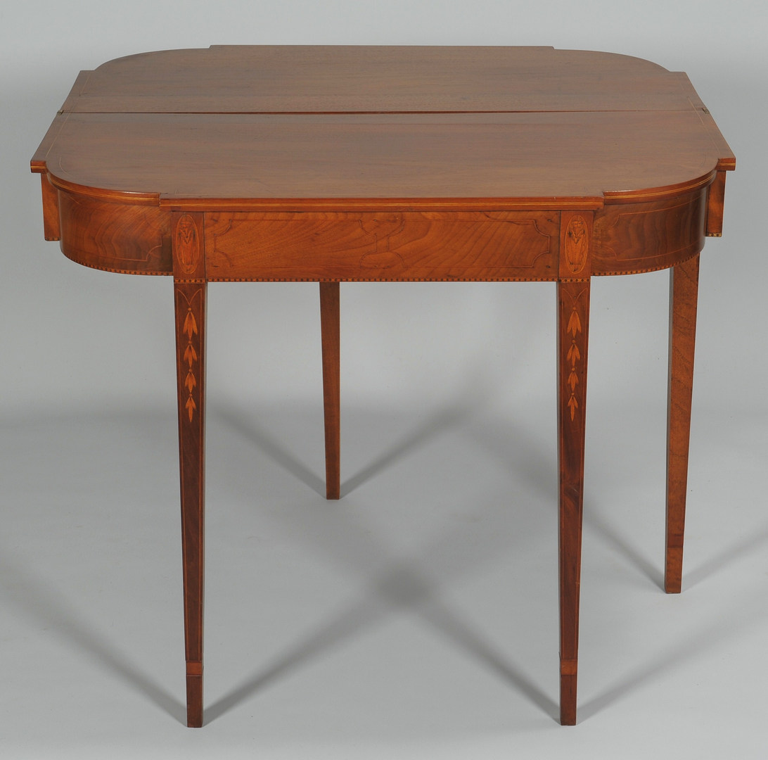 Lot 319: Federal Inlaid Card Table, Possibly Baltimore