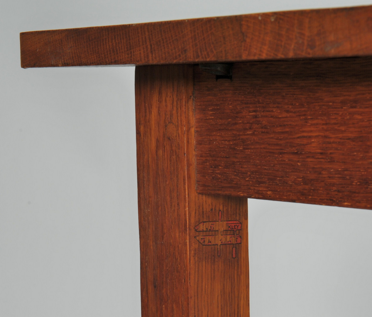 Lot 320: Two Labeled L. and J. G. Stickley Side Tables
