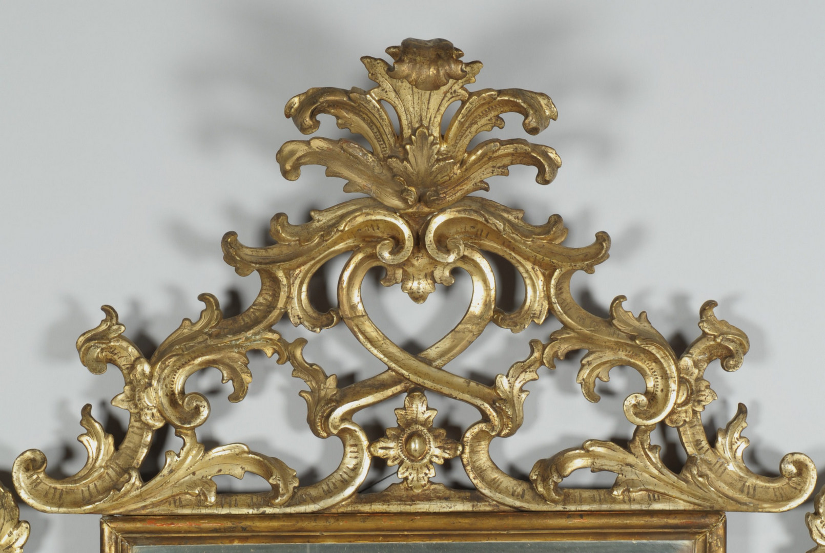 Lot 322: Chippendale / Rococo Style Gilt Wood Mirror