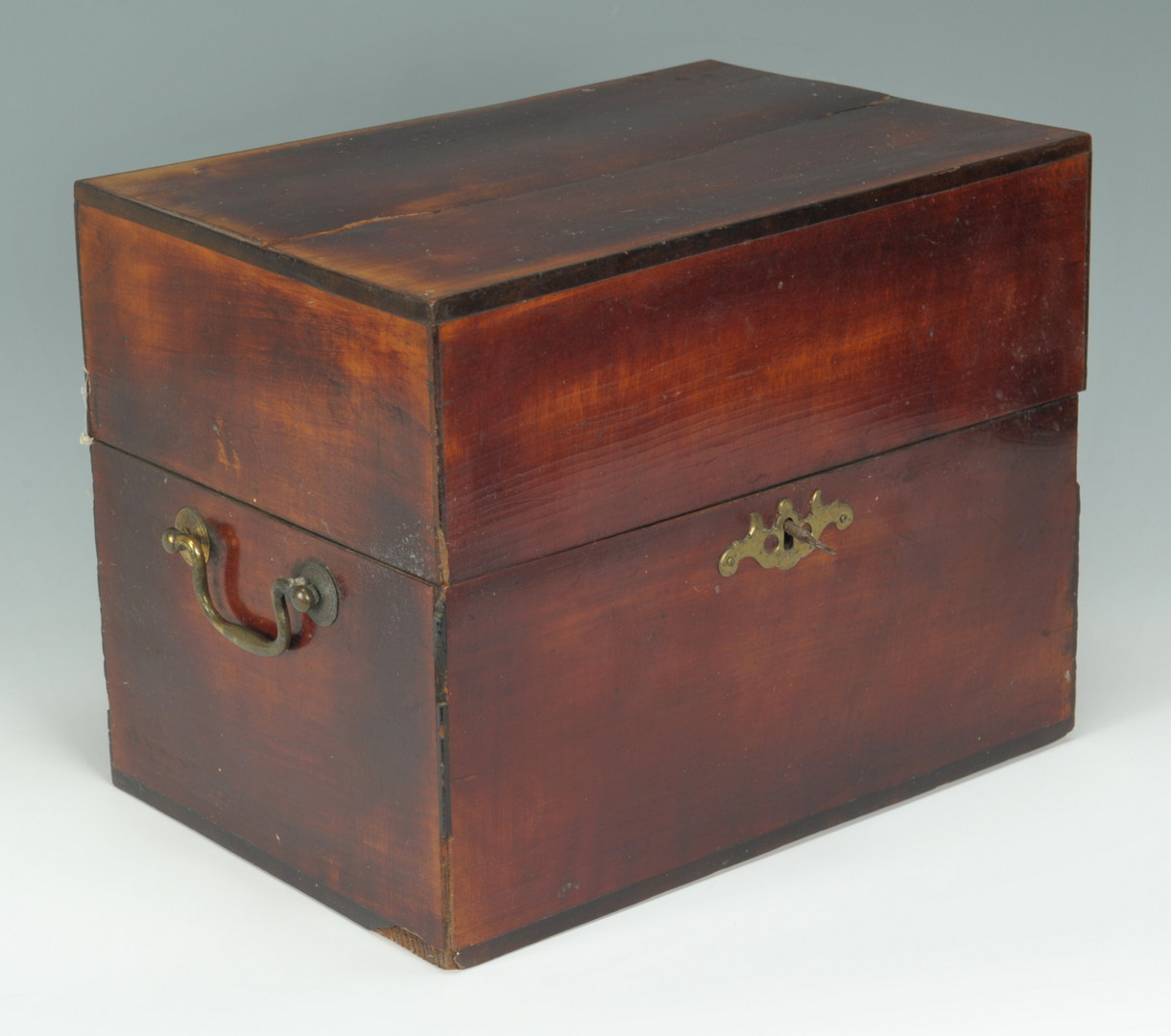 Lot 323: 2 English Boxes, Bottle & Document