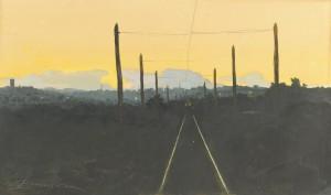 Lot 32: Lloyd Branson Watercolor, Knoxville Cityscape
