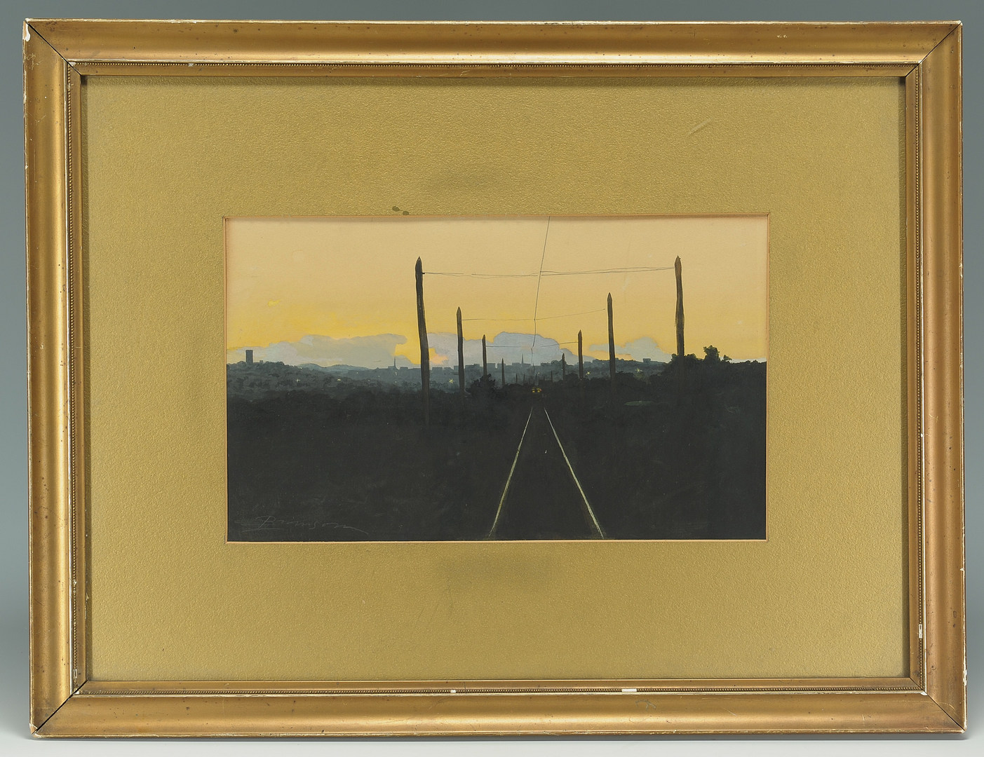 Lot 32: Lloyd Branson Watercolor, Knoxville Cityscape