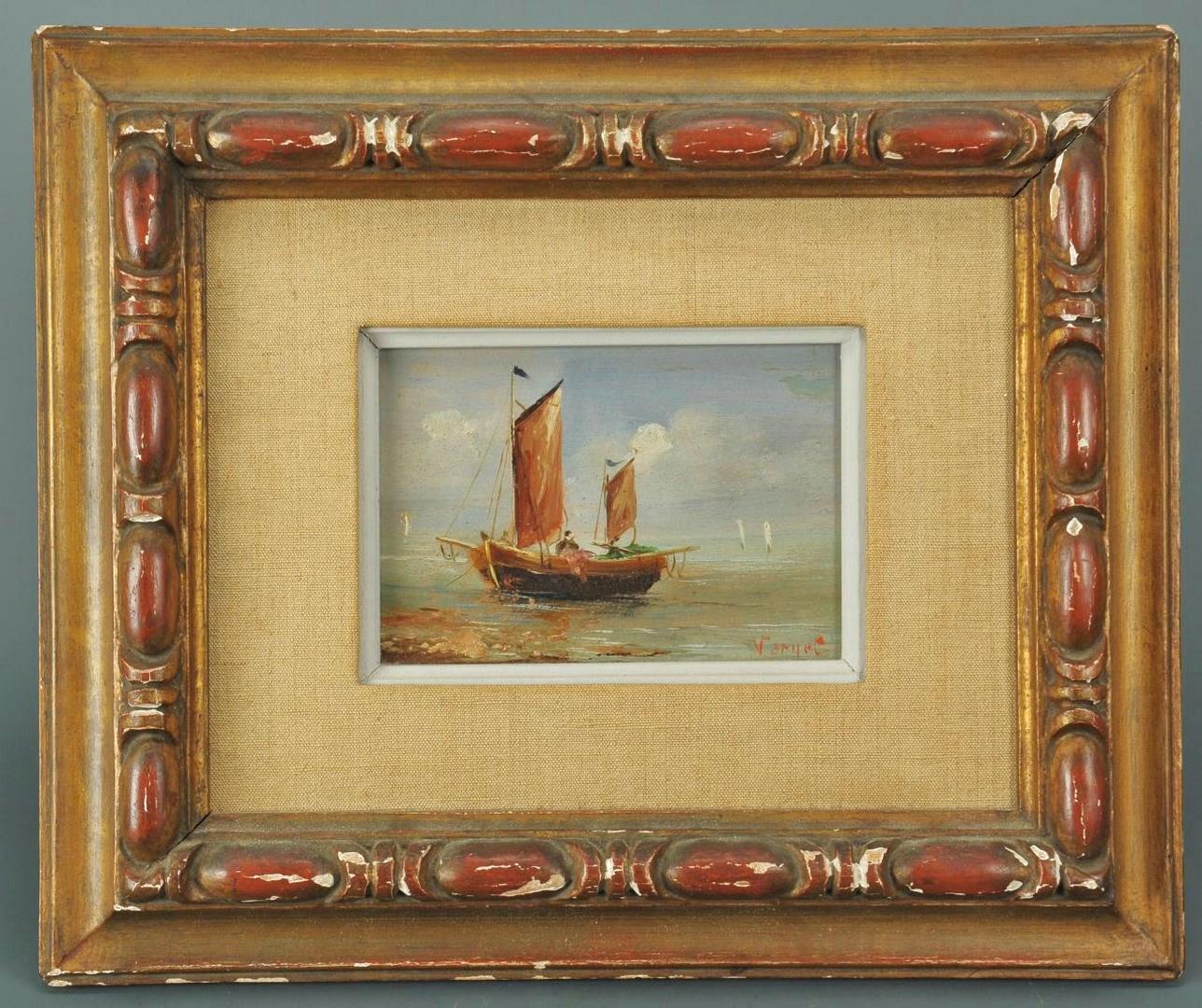 Lot 330: Nautical Scene oil attrib. Frederick Verner