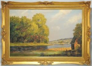 Lot 331: Egon Chabert Landscape Oil on Canvas