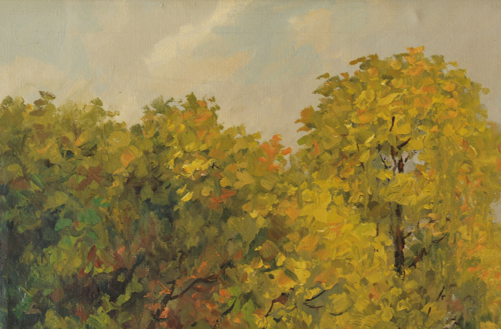 Lot 331: Egon Chabert Landscape Oil on Canvas