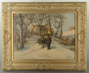 Lot 333: Winter Landscape by Donald William Keith