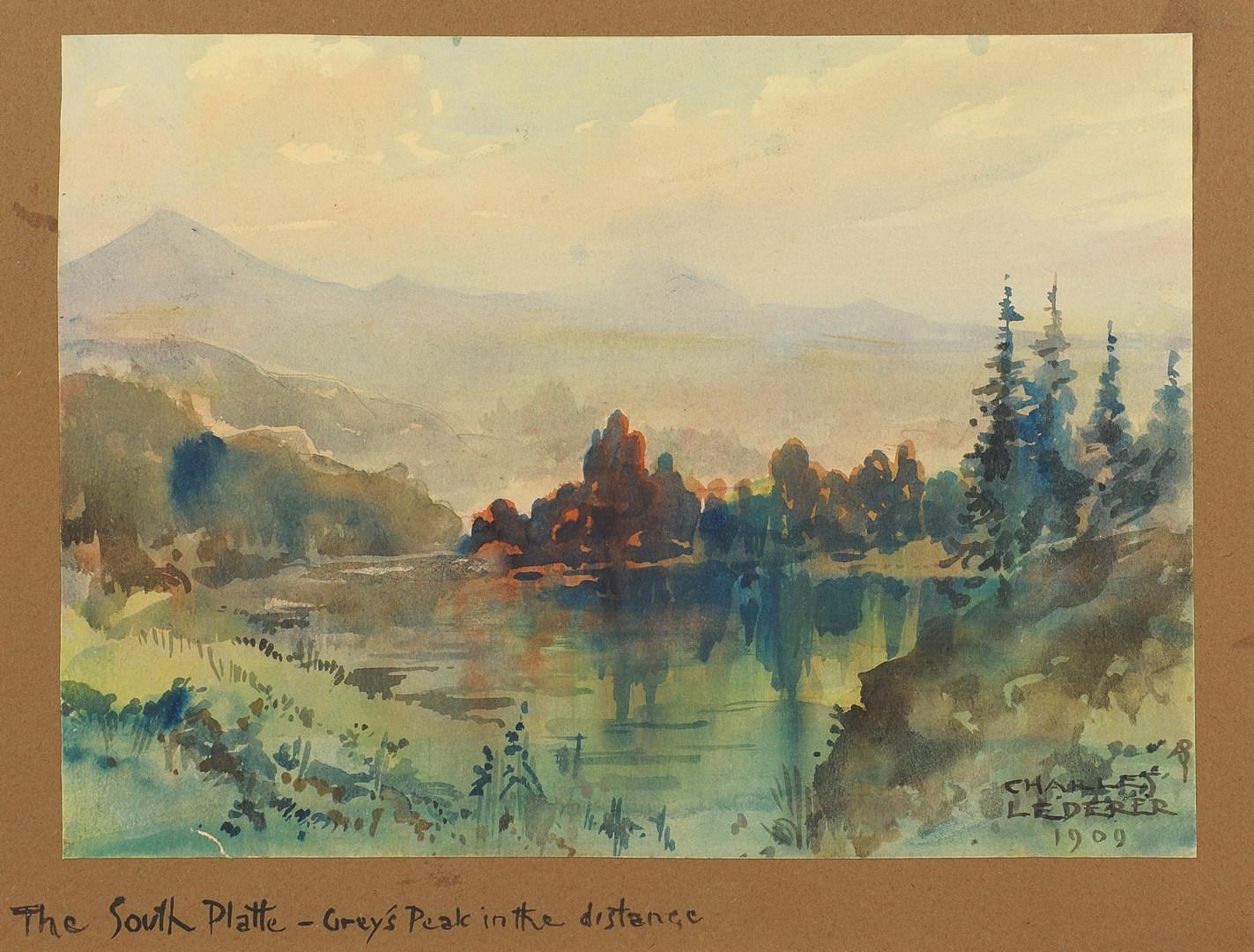 Lot 341: Lot of 4 Charles Lederer Paintings
