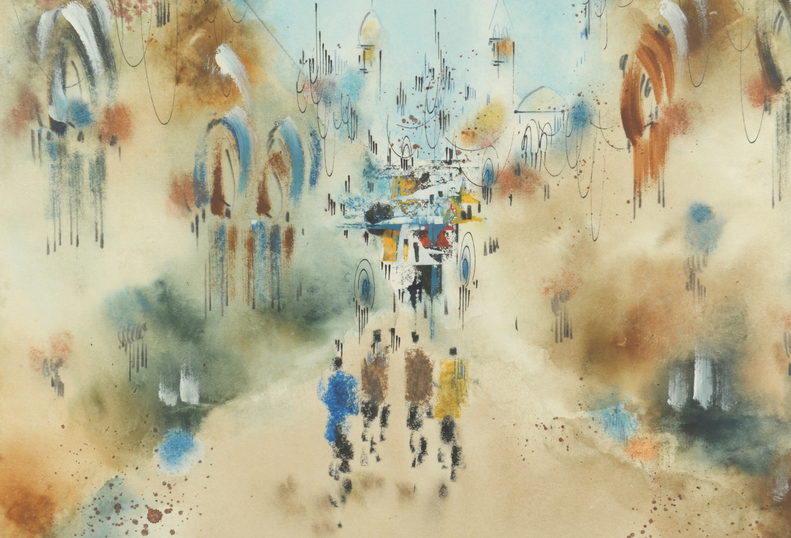 Lot 342: Ben Avram Watercolor painting