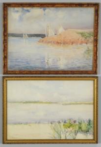 Lot 343: 2 Rhoda Holmes Nicholls Watercolor Seascapes