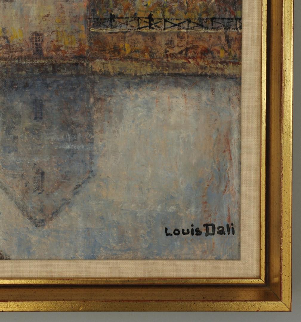 Lot 346: Louis Dali oil on canvas, landscape with house