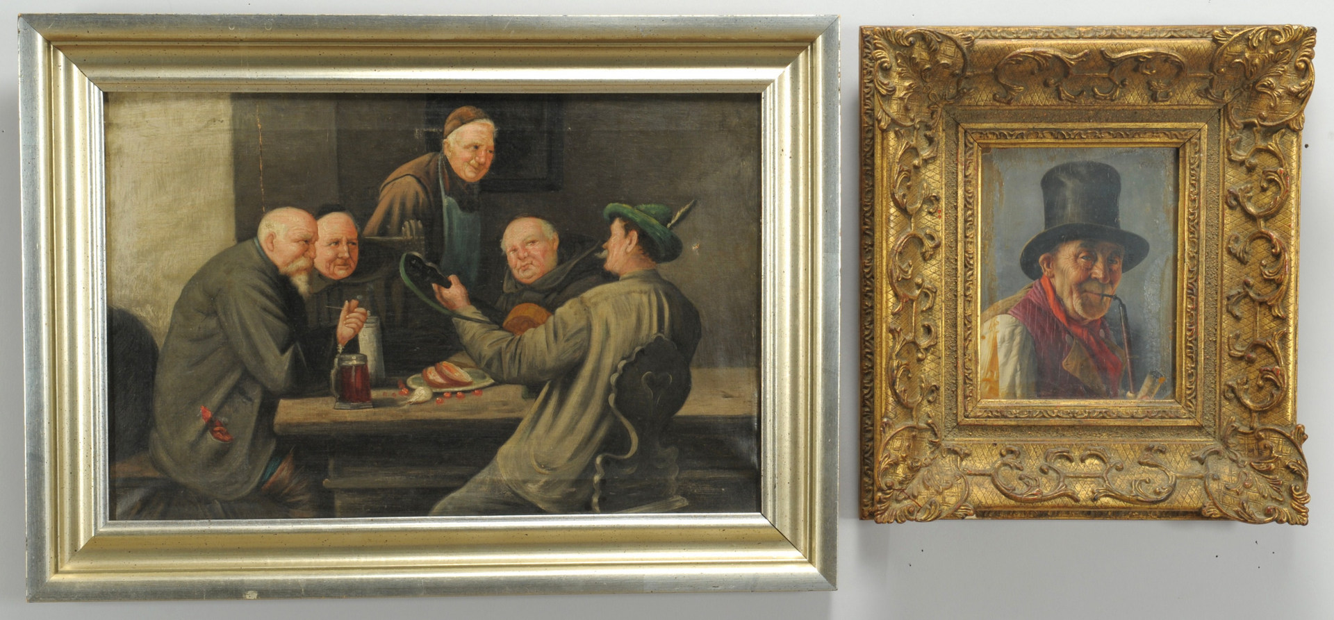 Lot 349: Grouping of two European paintings