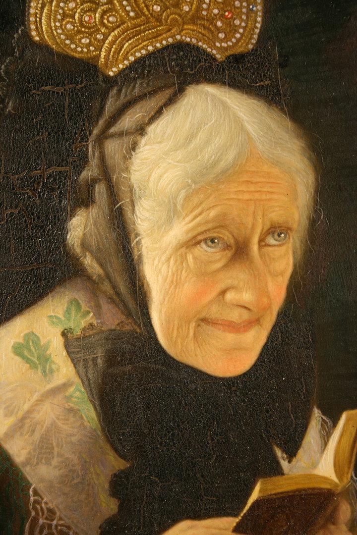 Lot 350: Pair of Christian Heuser oil on panel portraits