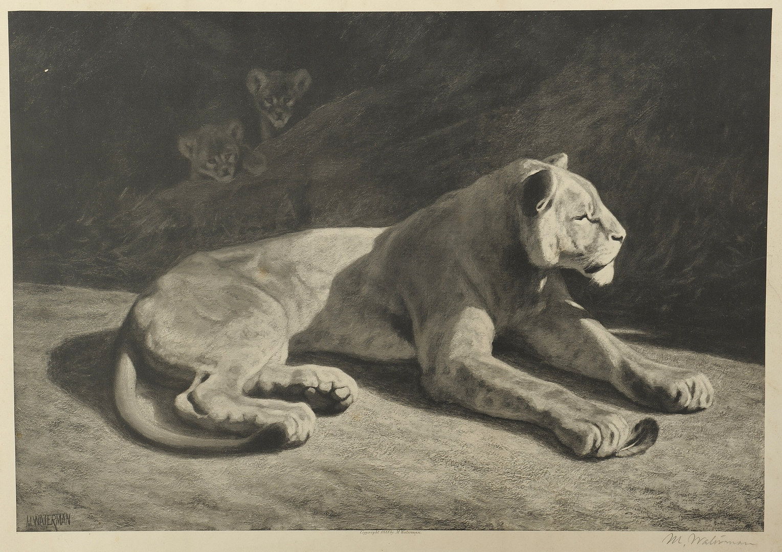 Lot 359: 2 Wildlife Lithographs, Waterman & Wengeroth