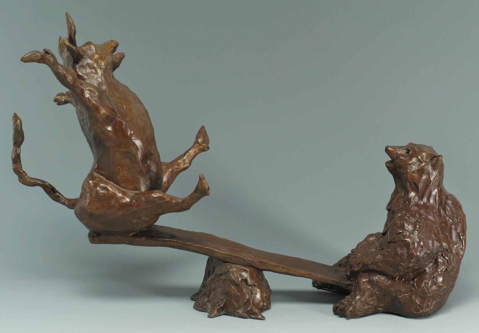 Lot 35: Susan Read Cronin Bull & Bear Bronze Sculpture