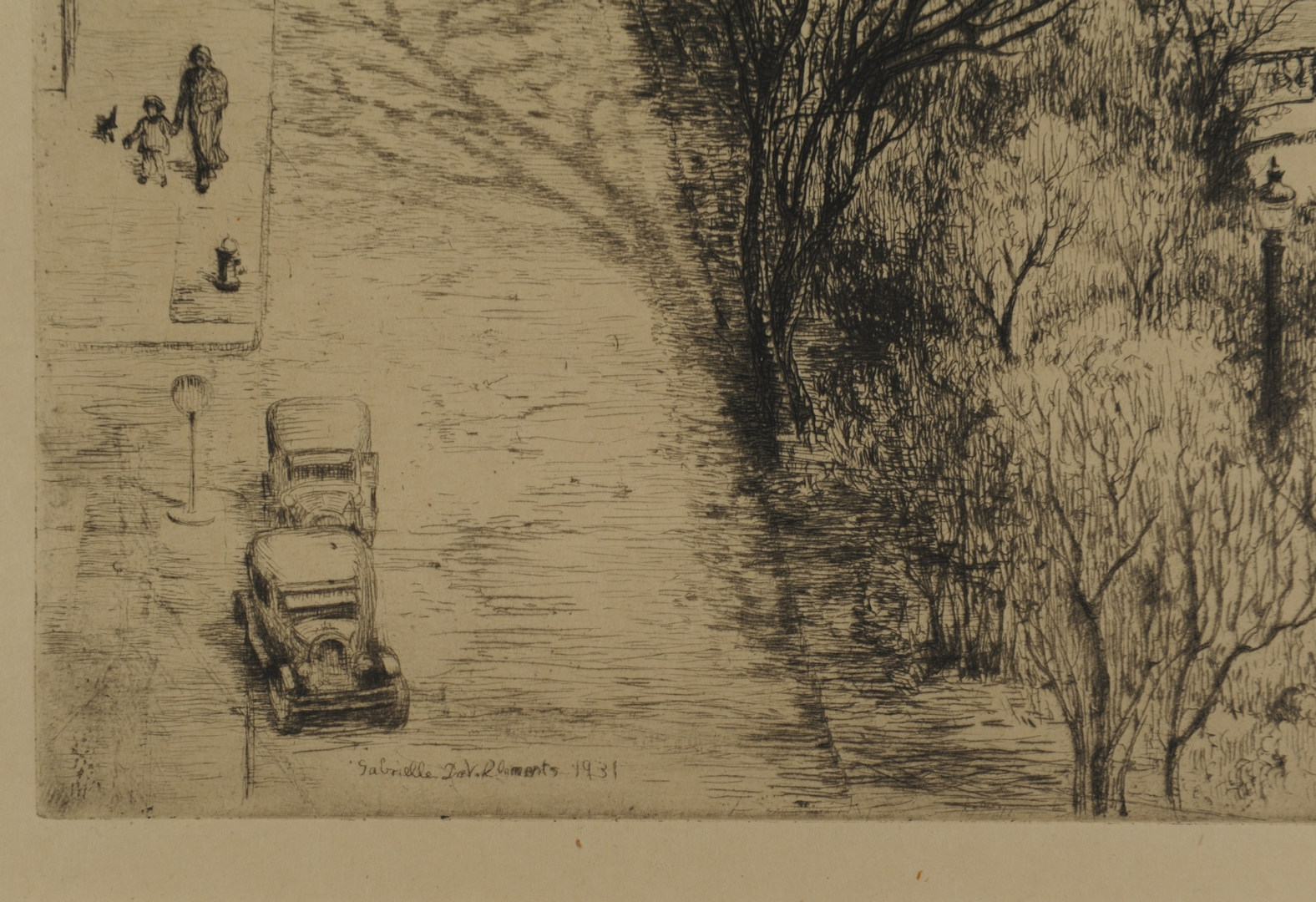 "Lot 361: Gabrielle Clements Etching, ""Heart of Baltimore"""