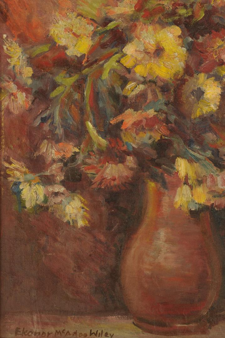 Lot 365: Eleanor Wiley, oil on canvas still life