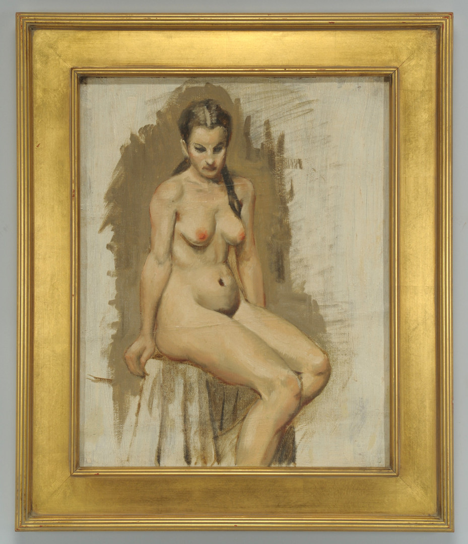 Lot 366: Framed Oil on Canvas Nude, TN artist