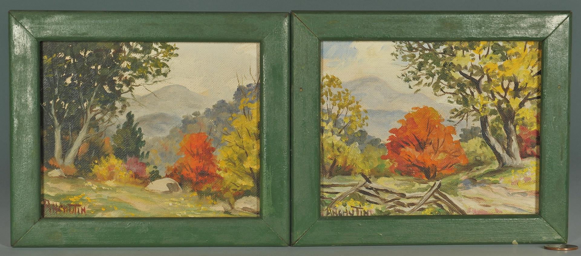 Lot 367: 2 Jacob Anchutin Smoky Mountain Scenes