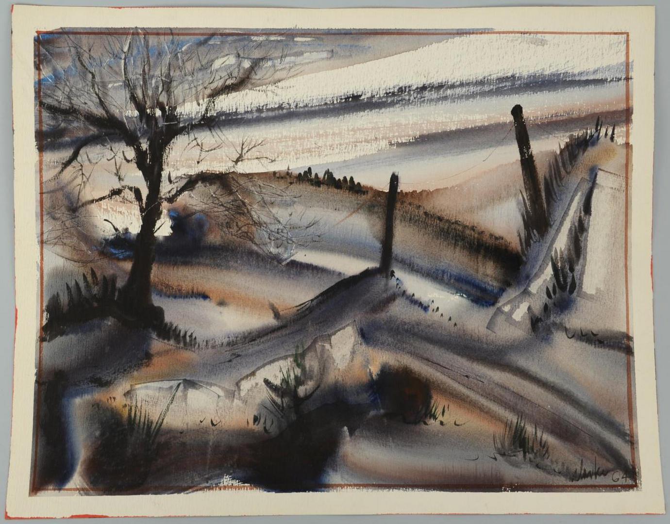 Lot 368: 2 Richard Clarke Watercolors