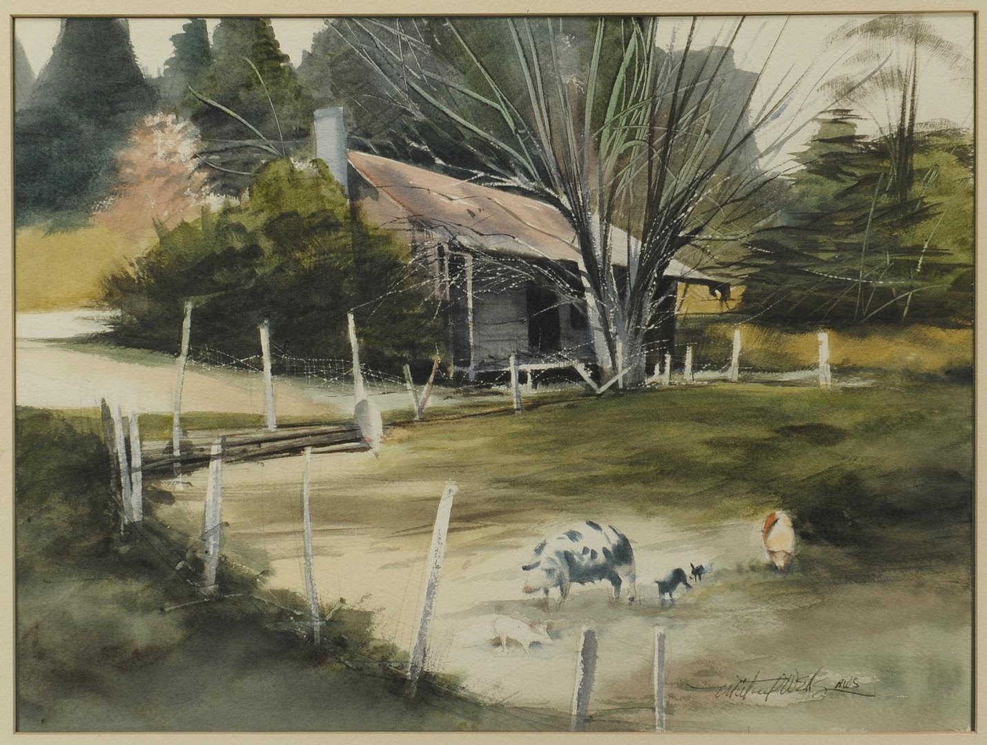 Lot 369: Millard Wells Watercolor