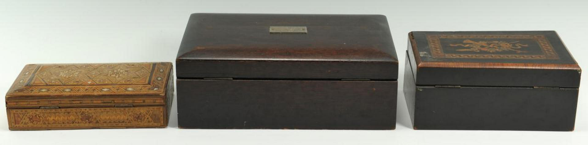 Lot 375: Humidor and Two Decorative Boxes