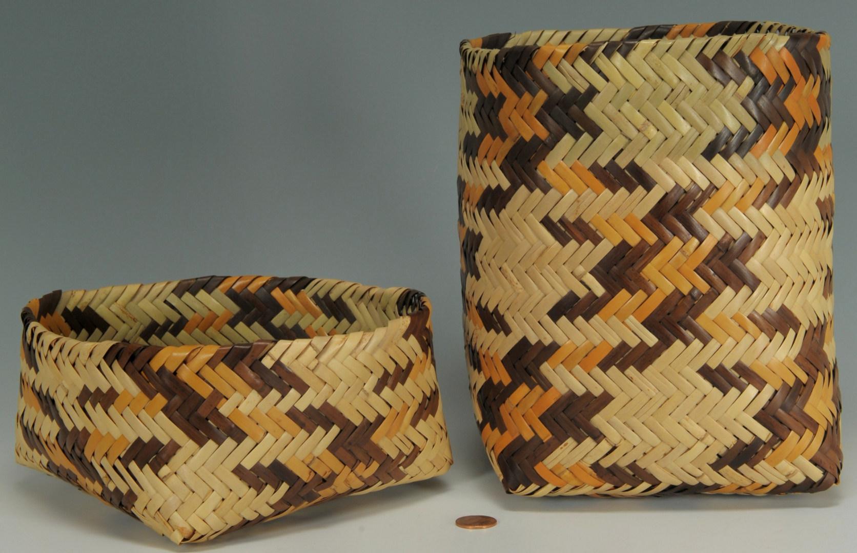 Lot 376: Cherokee rivercane basket, attr. R. Bradley