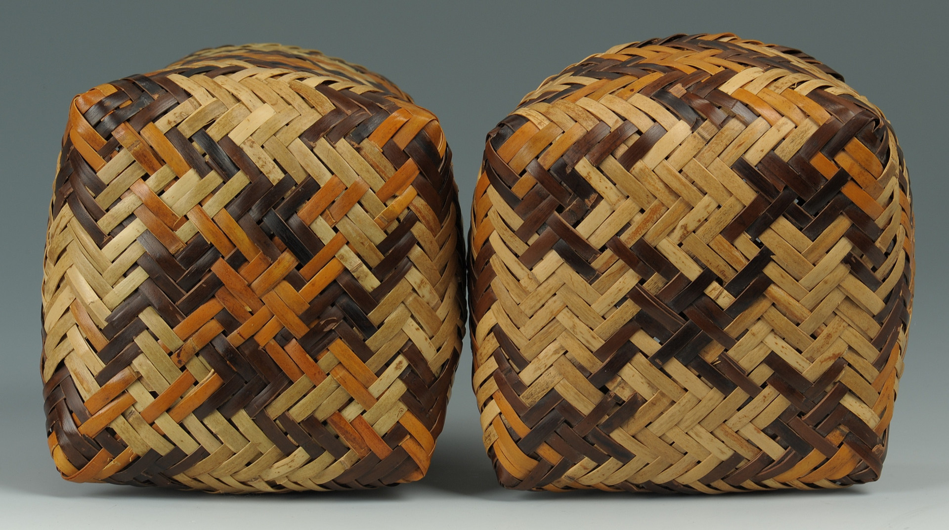 Lot 377: Miniature Cherokee rivercane basket by R. Bradley