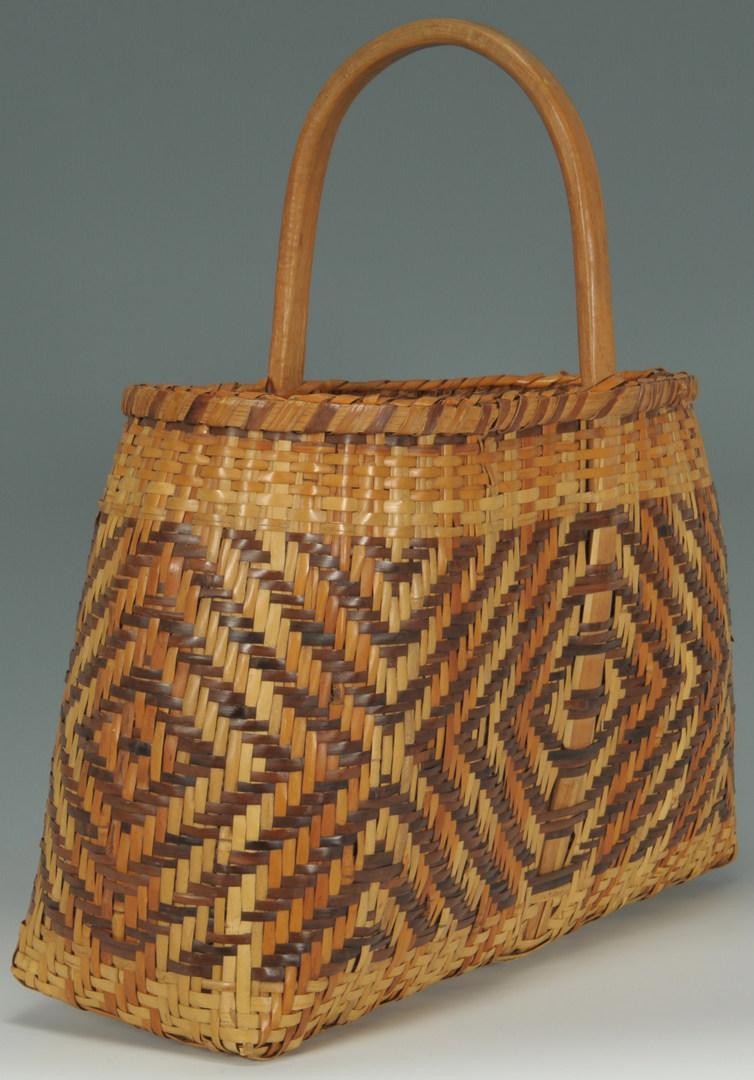 Lot 378: Cherokee Rivercane Market Basket